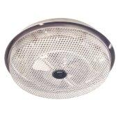 Fan-Forced Low-Profile Ceiling Heater, Aluminum, Enclosed, Sheathed Element 1250W, 120VAC, 11'' Diameter x 2-3/4'' H