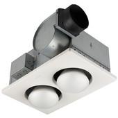 double bulb heater ventilation fan