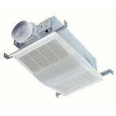NuTone 70 CFM Fan/Light with White Polymeric Lens and Rectangular Textured Polymeric Grille, 100-Watt Incandescent Lighting, Housing: 7-7/8'' W x 7-7/8'' D x 5-5/8'' H
