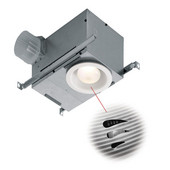 70 CFM Recessed Humidity Sensing Bath Fan/Light, Energy Star ®, Housing: 12-3/4'' W x 8-1/4'' D x 6-3/4'' H