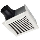 NuTone InVent ™ 110 CFM Single-Speed Fan, 1.3 Sones, Energy Star ®, Housing: 10'' W x 9-1/4'' D x 5-3/4'' H