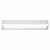 30'' Under Cabinet Range Hood with Light in White with EZ1 installation system, 30''W x 17-1/2''D x 6''H