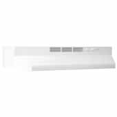 30'' Ductless Under Cabinet Range Hood with Light in White with EZ1 installation system, 30''W x 17-1/2''D x 6''H