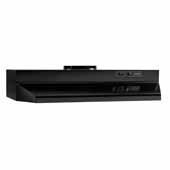 30'' Under Cabinet Range Hood with Light in Black with EZ1 installation system, 30''W x 17-1/2''D x 6''H