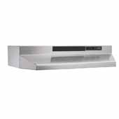 30'' Convertible Under Cabinet Range Hood with Light in Stainless Steel with EZ1 installation system, 30''W x 17-1/2''D x 6''H