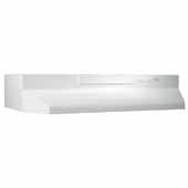 30'' Convertible Under Cabinet Range Hood with Light in White with EZ1 installation system, 30''W x 17-1/2''D x 6''H