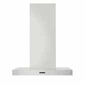 30'' Convertible Wall Mount T-Style Chimney Range Hood with LED Light in Stainless Steel, 30''W x 19-11/16''D x 27-3/16''H