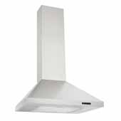 24'' Convertible Wall Mount Chimney Range Hood with LED Light in Stainless Steel, 24''W x 19-3/4''D x 26-5/8''H