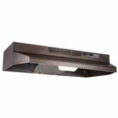 30'' Convertible Under Cabinet Range Hood with light, Black Stainless Steel, 30''W x 17-1/2''D x 6''H