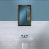 Jensen by  Hampton Collection 15-3/4'' W X 25-1/2'' H Wall Mounted Classic Mirror with Oil Rubbed Bronze Frame