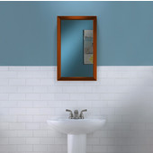 Jensen by  Hampton Collection 15-3/4'' W X 25-1/2'' H Wall Mounted Classic Mirror with Copper Frame