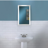 Jensen by  Hampton Collection 15-3/4'' W X 25-1/2'' H Wall Mounted Classic Mirror with White Frame