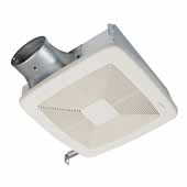 Loprofile Dc Series Bathroom Exhaust Fan With Selectable 50, 80 Or 100 CFM, Energy Star® Certified, 10-1/2''W x 11-3/8''D x 4''H