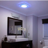 NuTone LunAura ™ 110 CFM Ventilation Fan/Light/Led Nightlight with Tinted Light Panel, 0.7 Sones, Energy Star ®, Housing: 11-3/8'' W x 10-1/2'' D x 7-5/8'' H