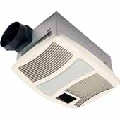 110CFM Ventilation Fan with Heater and Flourescent Light, 17-5/8' W x 11-3/8' D x 7-5/8' H