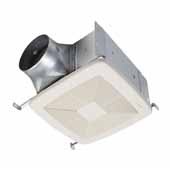 QTDC™ Series Bathroom Exhaust Fan With Selectable 110, 130 Or 150 CFM, Energy Star Certified, 10-1/2''W x 11-3/8''D x 7-5/8''H