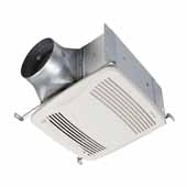 QTDC™ Series Bathroom Exhaust Fan With Humidity Sensing and Selectable 110, 130 Or 150 CFM, Energy Star Certified, 10-1/2''W x 11-3/8''D x 7-5/8''H