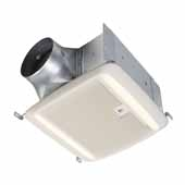 QTDC™ Series Bathroom Exhaust Fan With Humidity Sensing, LED Light and Selectable 110, 130 Or 150 CFM, Energy Star Certified, 10-1/2''W x 11-3/8''D x 7-5/8''H