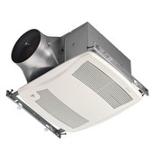 NuTone Ultra Green ™ 110 CFM Humidity Sensing Ventilation Fan with White Grille, <0.3 Sones, Energy Star ®, Housing: 11-3/8'' W x 10-1/2'' D x 7-5/8'' H