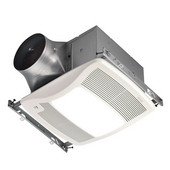 NuTone Ultra Green ™ 110 CFM Humidity Sensing Ventilation Fan with Light and White Grille, <0.3 Sones, Energy Star ®, Housing: 11-3/8'' W x 10-1/2'' D x 7-5/8'' H