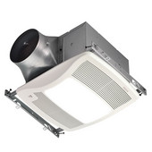 Ultra Green ™ 110 CFM Humidity Sensing Multi-Speed Ventilation Fan/Light with White Grille, <0.3 Sones, Energy Star ®, Housing: 11-3/8'' W x 10-1/2'' D x 7-5/8'' H