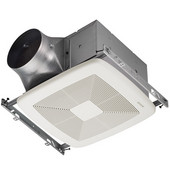 Ultra Green ™ 80 CFM Multi-Speed Ventilation Fan with White Grille, <0.3 Sones, Energy Star ®, Housing: 11-3/8'' W x 10-1/2'' D x 7-5/8'' H
