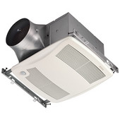 Ultra Green ™ 80 CFM Motion Sensing Multi-Speed Ventilation Fan with White Grille, <0.3 Sones, Energy Star ®, Housing: 11-3/8'' W x 10-1/2'' D x 7-5/8'' H
