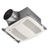 NuTone Ultra Green ™ 110 CFM Motion Sensing Multi-Speed Ventilation Fan with White Grille, <0.3 Sones, Energy Star ®, Housing: 11-3/8'' W x 10-1/2'' D x 7-5/8'' H