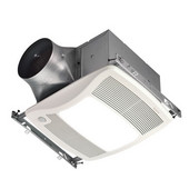 NuTone Ultra Green ™ 110 CFM Motion Sensing Multi-Speed Ventilation Fan/Light with White Grille, <0.3 Sones, Energy Star ®, Housing: 11-3/8'' W x 10-1/2'' D x 7-5/8'' H