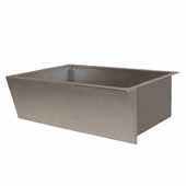 Zuma Kitchen Sink In Brushed Nickel, 33''W X 22''D X 10-1/2''H