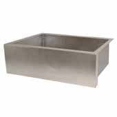 Pinnacle Kitchen Sink In Brushed Nickel, 33''W X 22''D X 10-1/2''H