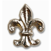 Whimsical Collection 1-3/4'' Wide Fleur Di Lis Cabinet Knob in Antique Brass, 1-3/4'' W x 7/8'' D x 2-1/8'' H