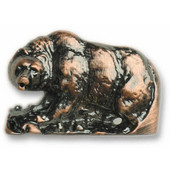 Wildlife Collection 1-9/16'' Wide Walking Bear Cabinet Knob in Antique Brass, 1-9/16'' W x 1-1/8'' D x 1-1/8'' H