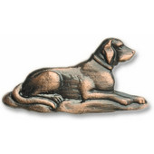 Whimsical Collection 2-5/16'' Wide Lab Retriever Cabinet Knob in Antique Brass, 2-5/16'' W x 3/4'' D x 1-3/16'' H