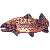 Fish Collection 2-13/16'' Wide Trout Left Face Cabinet Knob in Antique Brass, 2-13/16'' W x 3/4'' D x 1-3/8'' H