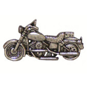 Whimsical Collection 2-7/8'' Wide Motorcycle Cabinet Pull in Antique Brass, 2-7/8'' W x 3/4'' D x 1-5/8'' H, Center to Center: 2''