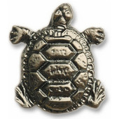Wildlife Collection 1-7/16'' Wide Turtle Cabinet Knob in Antique Brass, 1-7/16'' W x 3/4'' D x 1-3/4'' H