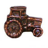 Whimsical Collection 1-1/2'' Wide Tractor Cabinet Knob in Antique Brass, 1-1/2'' W x 3/4'' D x 1-1/4'' H
