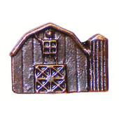 Whimsical Collection 1-1/2'' Wide Barn Cabinet Knob in Antique Brass, 1-1/2'' W x 3/4'' D x 1-1/8'' H