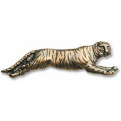 Safari Collection 3-1/4'' Wide Tiger Cabinet Knob in Antique Brass, 3-1/4'' W x 3/4'' D x 1'' H