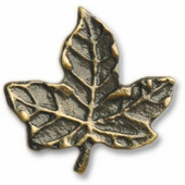 Leaves & Trees Collection 1-7/8'' Wide Leaf #4 Cabinet Knob in Antique Brass, 1-7/8'' W x 3/4'' D x 1-7/8'' H