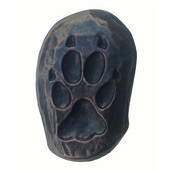Wildlife Collection 7/8'' Wide Single Wolf Track Right Face Cabinet Knob in Antique Brass,  7/8'' W x 3/4'' D x 1-3/8'' H