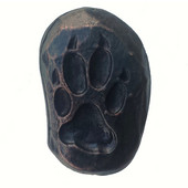Wildlife Collection 7/8'' Wide Single Wolf Track Left Face Cabinet Knob in Antique Brass,  7/8'' W x 3/4'' D x 1-3/8'' H