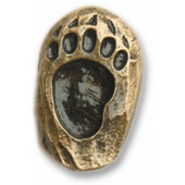 Wildlife Collection 7/8'' Wide Single Bear Track Right Face Cabinet Knob in Antique Brass, 7/8'' W x 3/4'' D x 1-3/8'' H