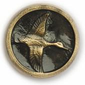 Wildlife Collection 1-3/4'' Diameter Mallard In Round Cabinet Knob in Antique Brass, 1-3/4'' Diameter x 3/4'' D x 1-3/4'' H