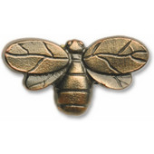 Wildlife Collection 2-9/16'' Wide Bee Cabinet Knob in Antique Brass, 2-9/16'' W x 3/4'' D x 1-7/16'' H