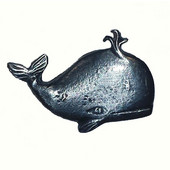 Tropical Collection 1-7/8'' Wide Whale Cabinet Knob in Antique Brass, 1-7/8'' W x 7/8'' D x 1-1/4'' H