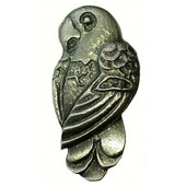Tropical Collection 15/16'' Wide Parrot Cabinet Knob in Antique Brass, 15/16'' W x 3/4'' D x 1-13/16'' H