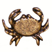 Tropical Collection 1-3/4'' Wide Sand Crab Cabinet Knob in Antique Brass, 1-3/4'' W x 3/4'' D x 1-1/2'' H