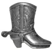 Southwest Collection 2-3/4'' Wide Cowboy Boot Right Face Cabinet Knob in Antique Brass, 2-3/4'' W x 7/8'' D x 2-3/8'' H